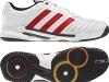 Adidas adipower Stabil 10.0 weiß/rot/schwarz, Adidas Handballschuhe