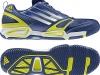 Adidas Feather Elite dunkelblau/lime/weiß, Handballschuhe